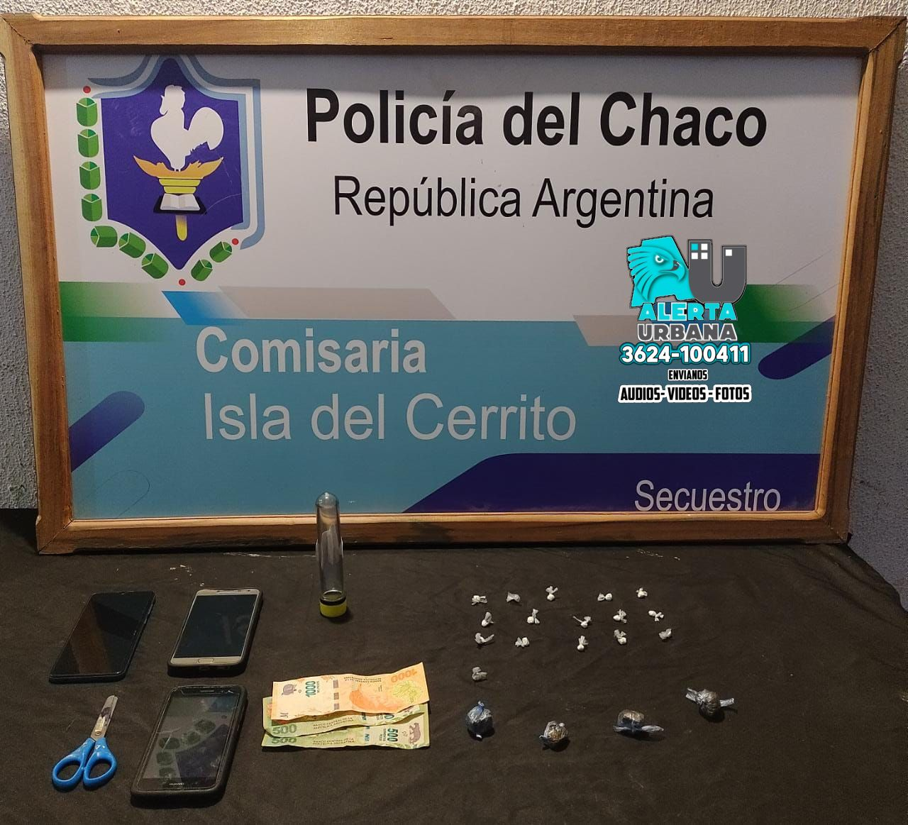 Isla del Cerrito: Incautan Marihuana y cocaína