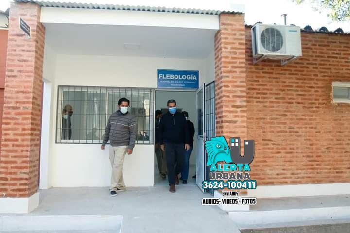 Inauguración de refacciones en el área de Flebología del Hospital Perrando