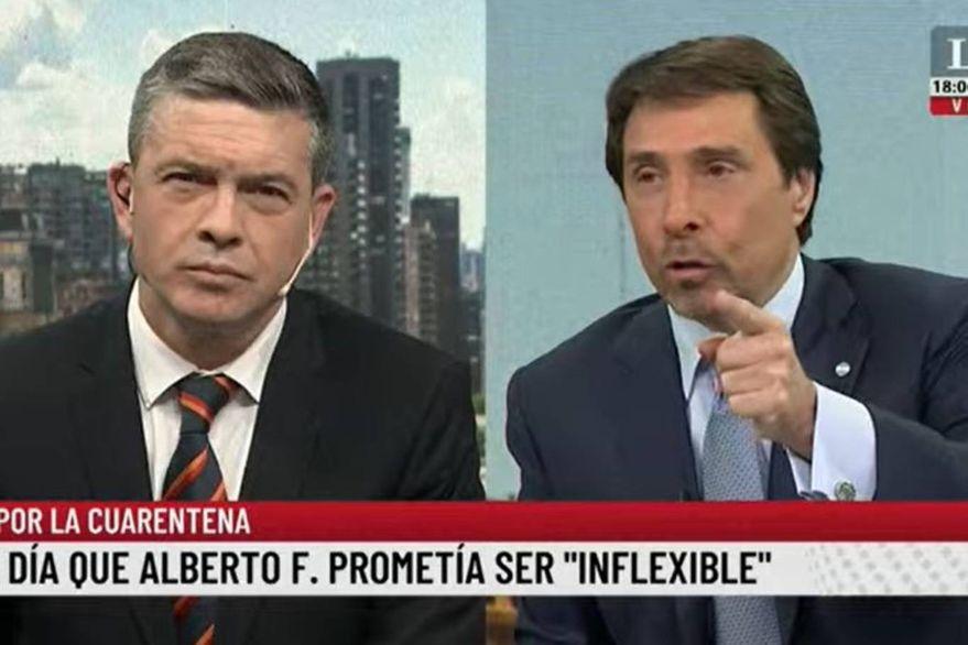 El ácido comentario de Eduardo Feinmann sobre la cátedra de Alberto Fernández en la UBA
