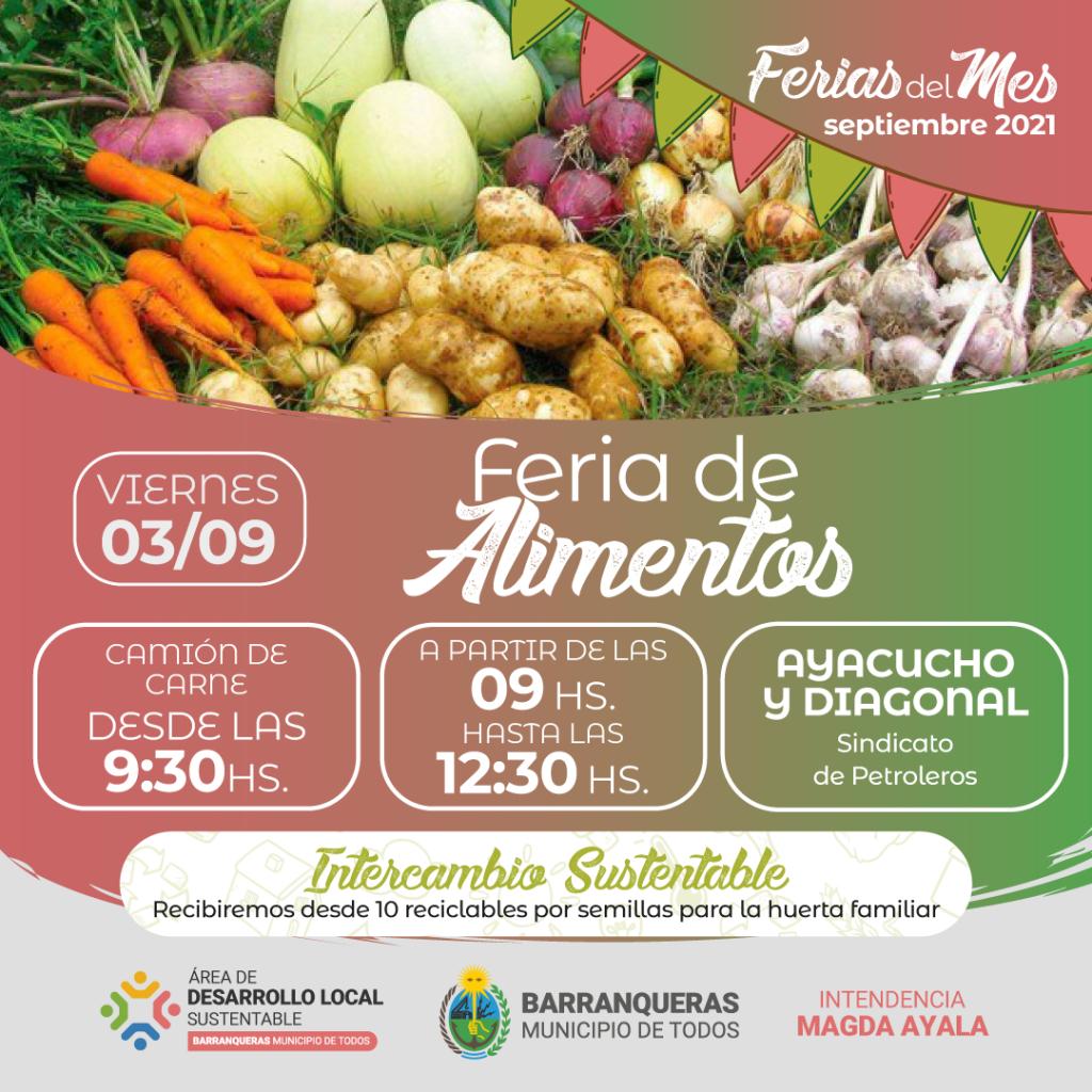 Barranqueras: Llega una nueva Feria de alimentos