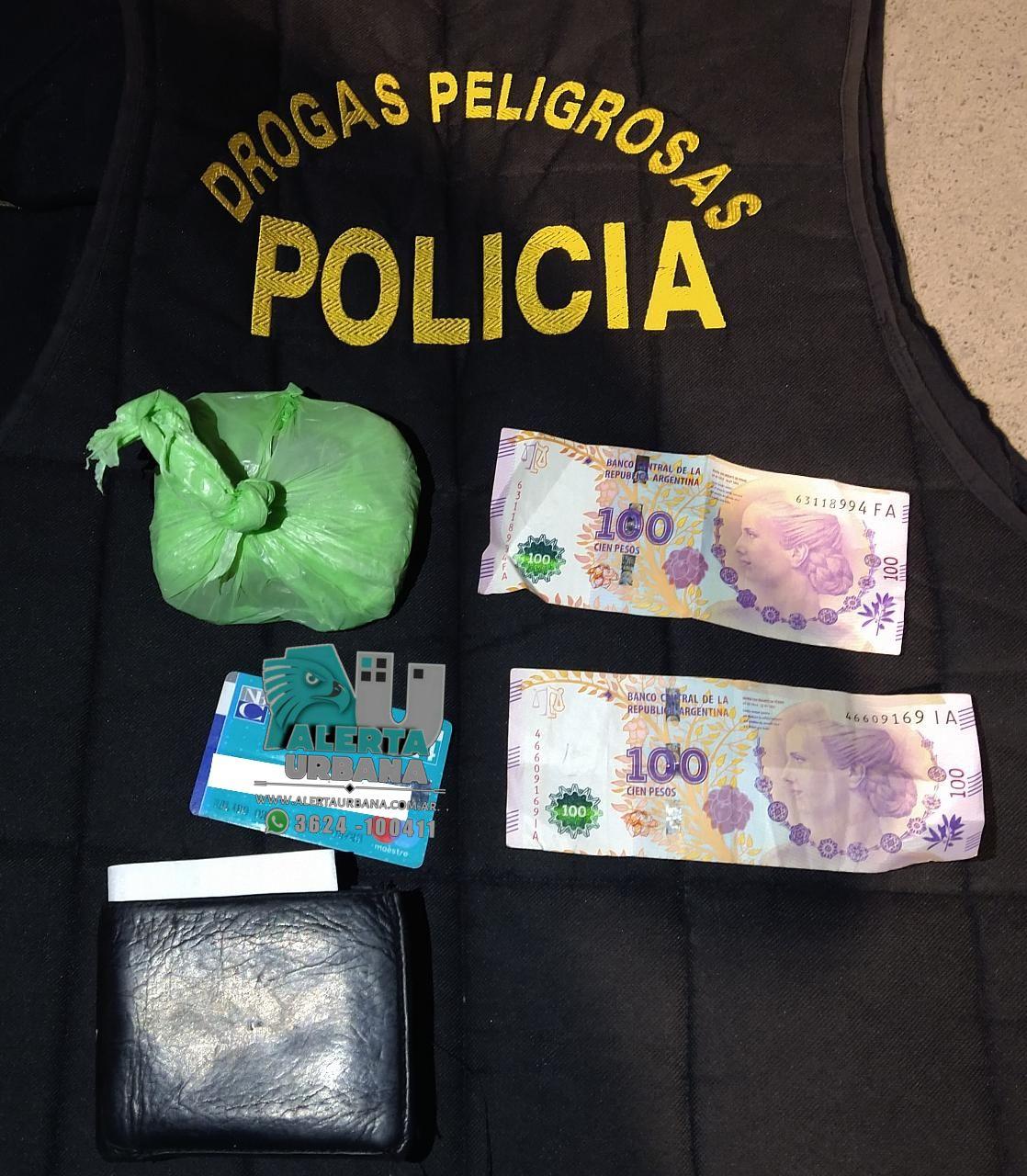 Sáenz Peña: aprehendieron a un hombre que circulaba con marihuana