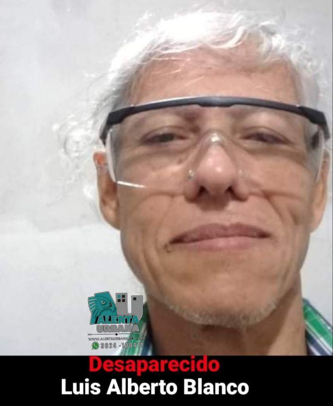Puerto Tirol: intensa búsqueda del ciudadano Luis Alberto Blanco de 58 años