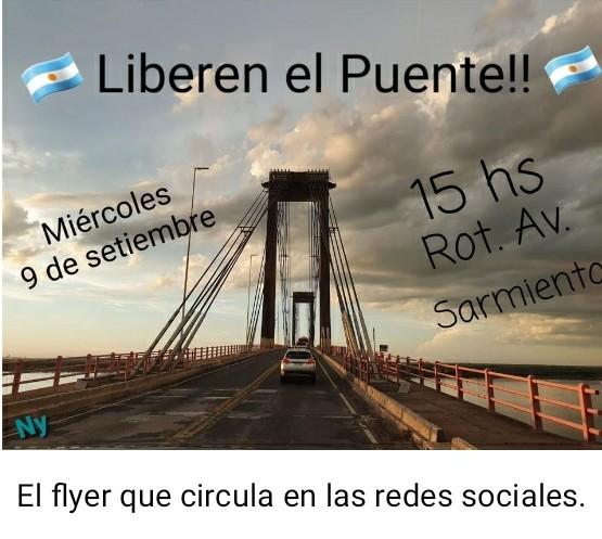 """Chaqueños y correntinos organizan una nueva caravana para pedir que """"liberen"""" el puente y """"dejen pasar"""" a quienes necesitan."""