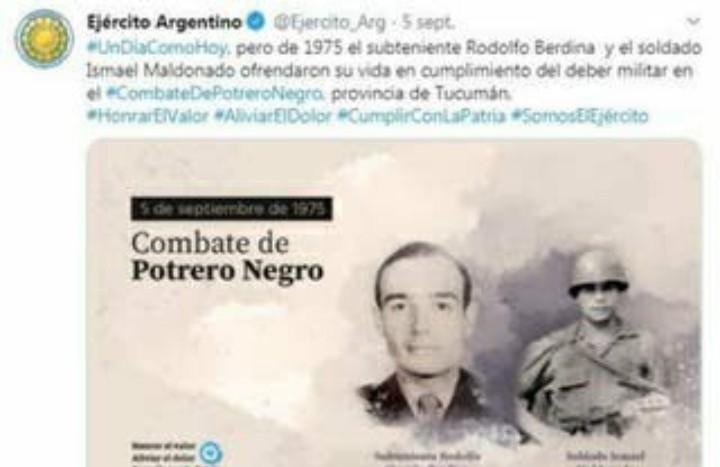El Ejército recordó a tres militares muertos por la guerrilla y luego borró los tuits
