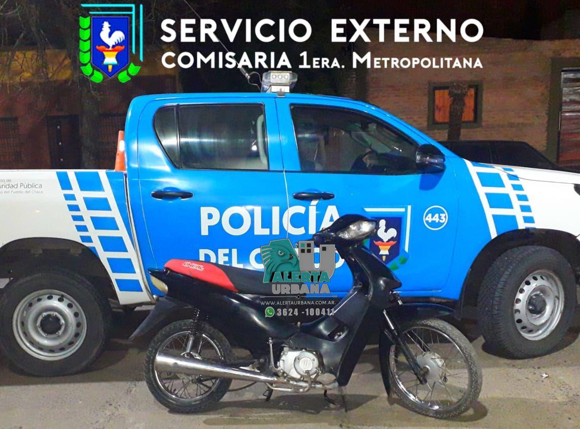 Resistencia: recuperan motocicleta sustraída