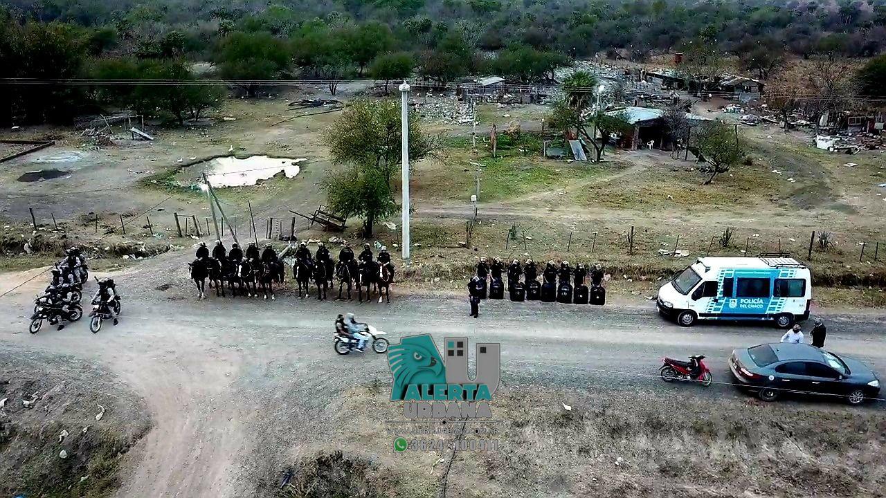 Resistencia: Gran despliegue policial para desalojar el Ex Campo de Tiro
