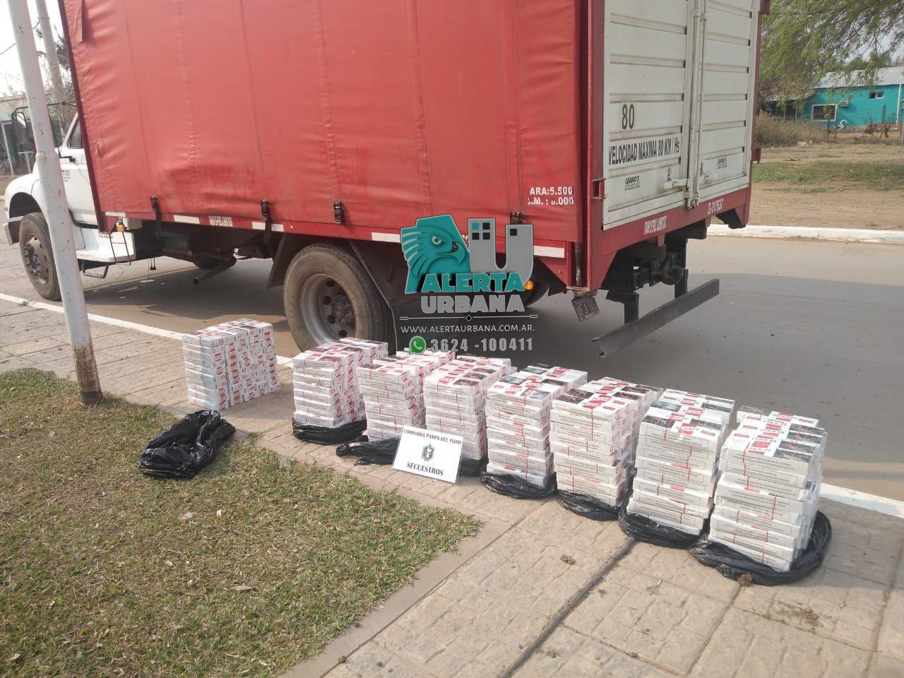 Pampa del Indio: Incautan 400 brezas de cigarrillos marca Rodeo