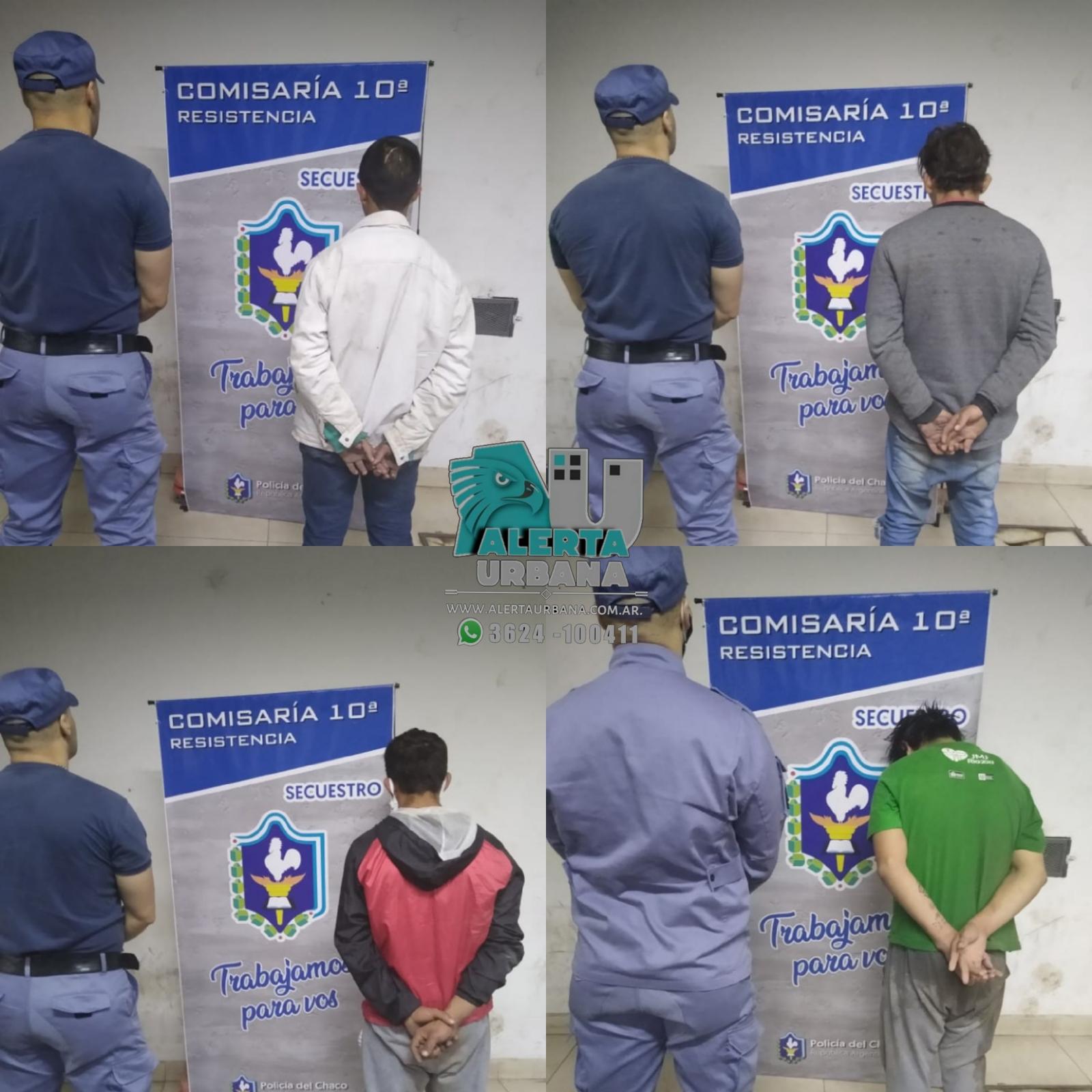 Resistencia: cuatro personas demoradas por robo.