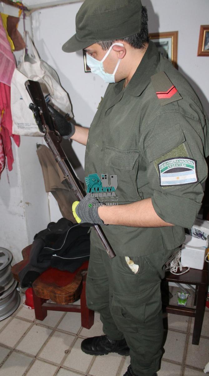 En Chaco y Formosa, tras un allanamiento secuestraron armas y municiones.
