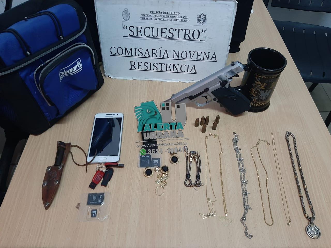 Resistencia: bienes robados fueron recuperados y un arma secuestrada.