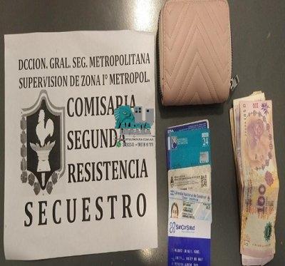 Resistencia: le sustrajo la billetera a una mujer, fue detenido.