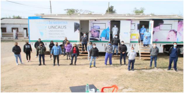 UNCAus asistió a más de 100 familias de Resistencia a través del Programa Detectar.