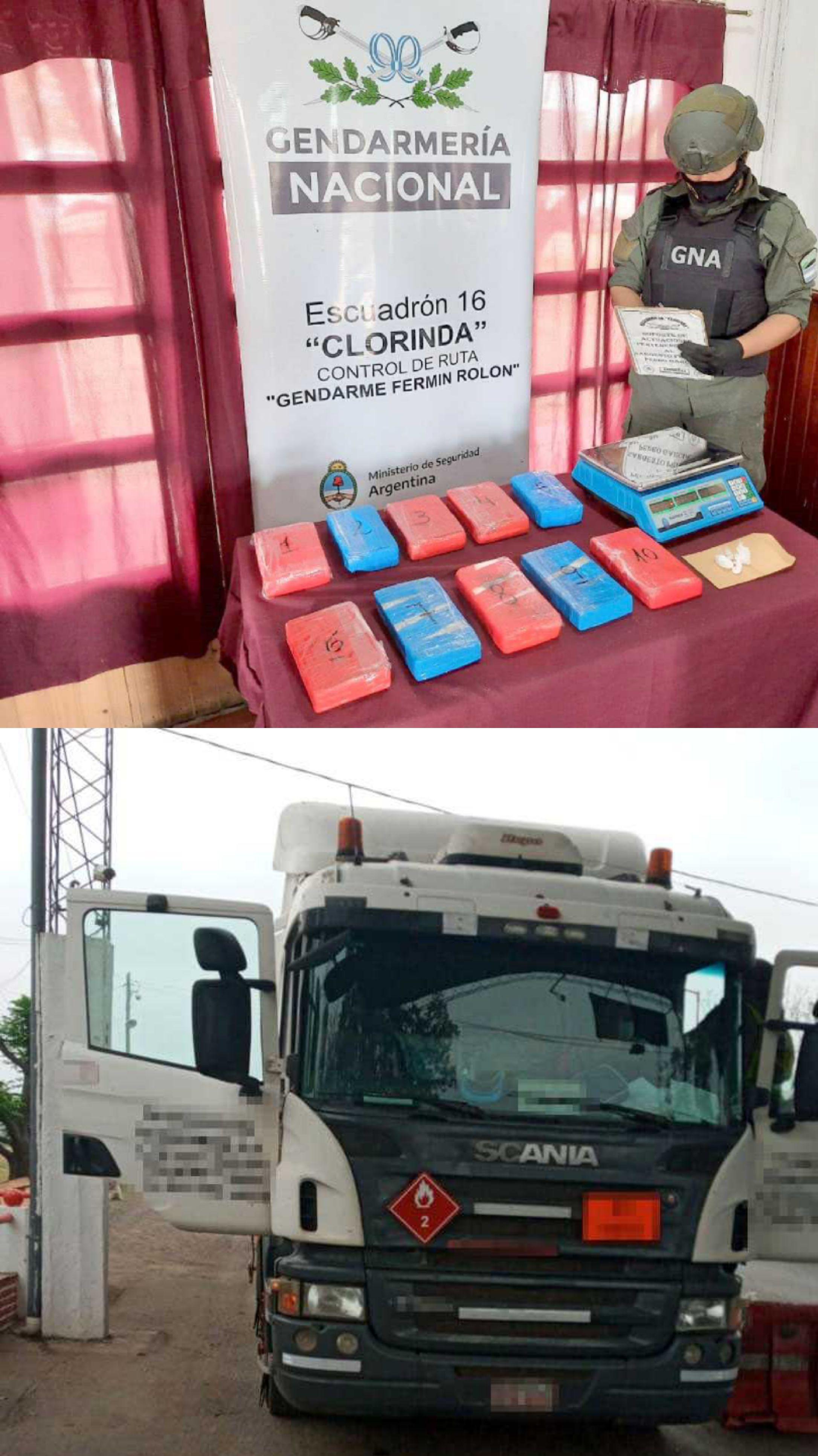 Ocultaba más de 10 kilos de cocaína en la cabina de su camión.