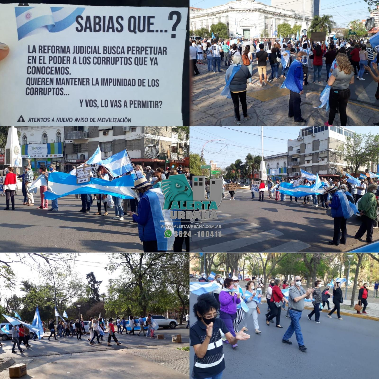 Vecinos de Resistencia marcharon por las calles de la ciudad.
