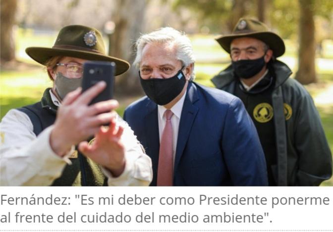 El presidente Alberto Fernández anticipó el impulso de una Ley de Educación Ambiental y la jura al medio ambiente.