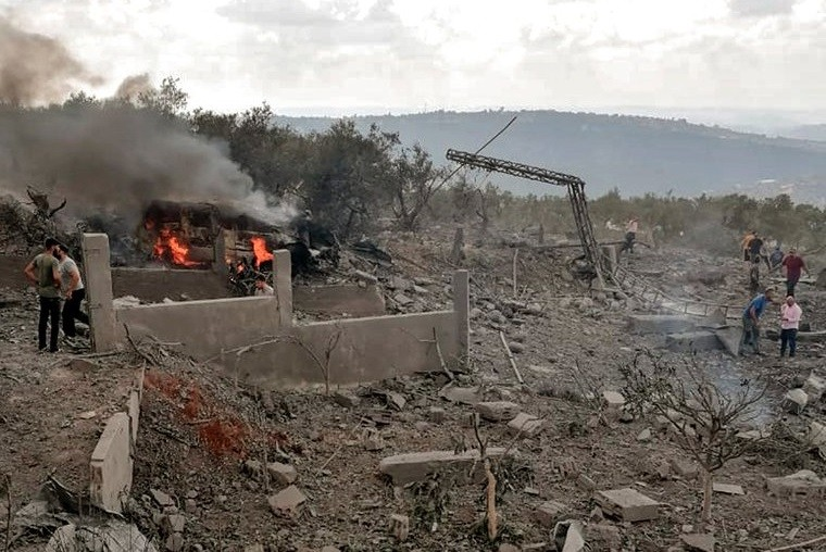 Fuerte explosión en un edificio de Hezbollah que funcionaba como depósito de municiones en el sur del Líbano