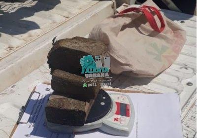 Sáenz Peña: fue demorado con 3 panes de marihuana.