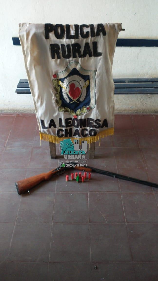 La Leonesa: un arma de fuego fue incautada en un allanamiento.