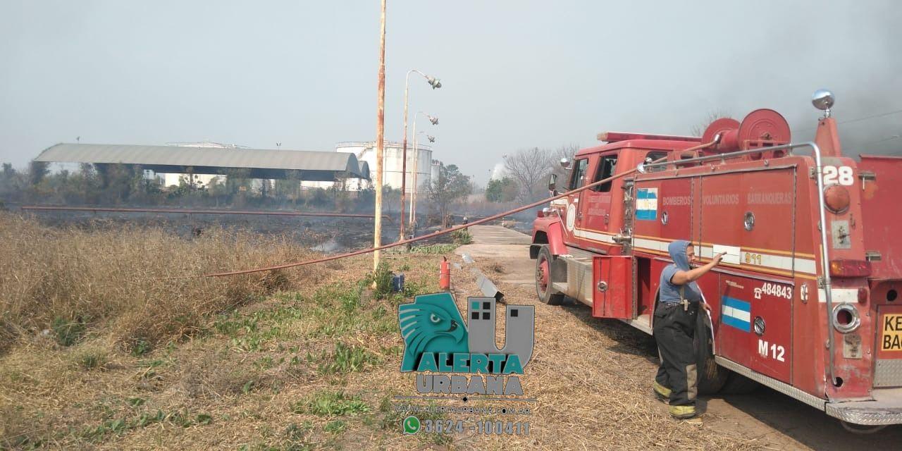 Puerto Vilelas: incendio dentro del previo de Gas Argentino