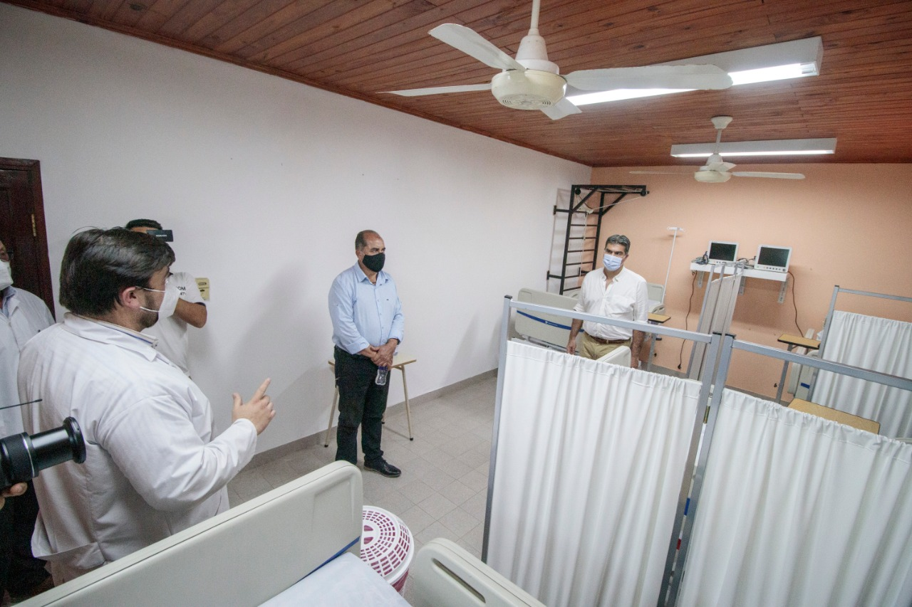 El gobierno inauguró Centro de Aislamiento para pacientes con Covid-19 en Las Breñas.