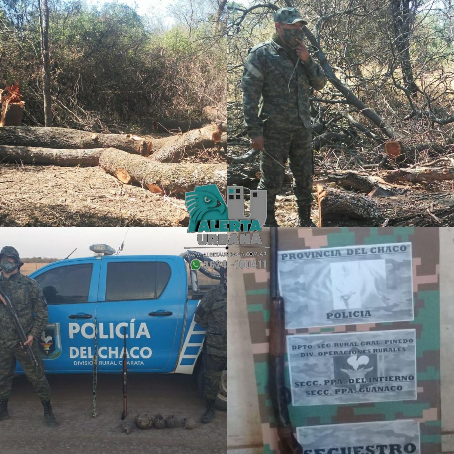 General Pinedo: interceptan cazadores con rifles y una escopeta