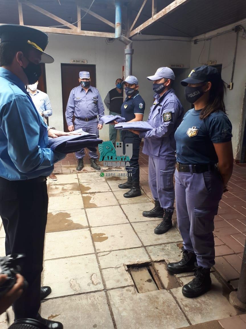 Gral. San Martín: entrega de nuevos uniformes para efectivos Policiales.