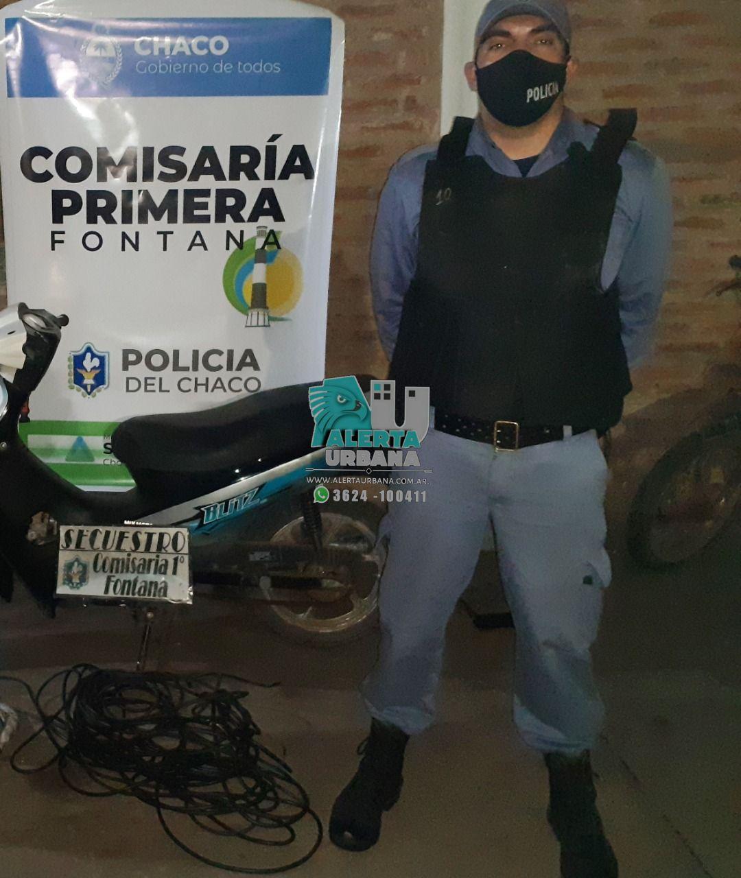 Fontana: hurtó cables y lesionó a un efectivo policial