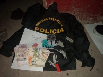 Sáenz Peña: cuatro detenidos con drogas y dinero.