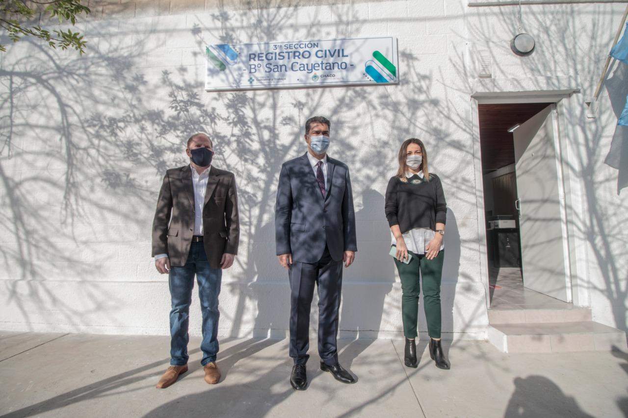 Se inauguró las refacciones del Registro Civil del Barrio San Cayetano