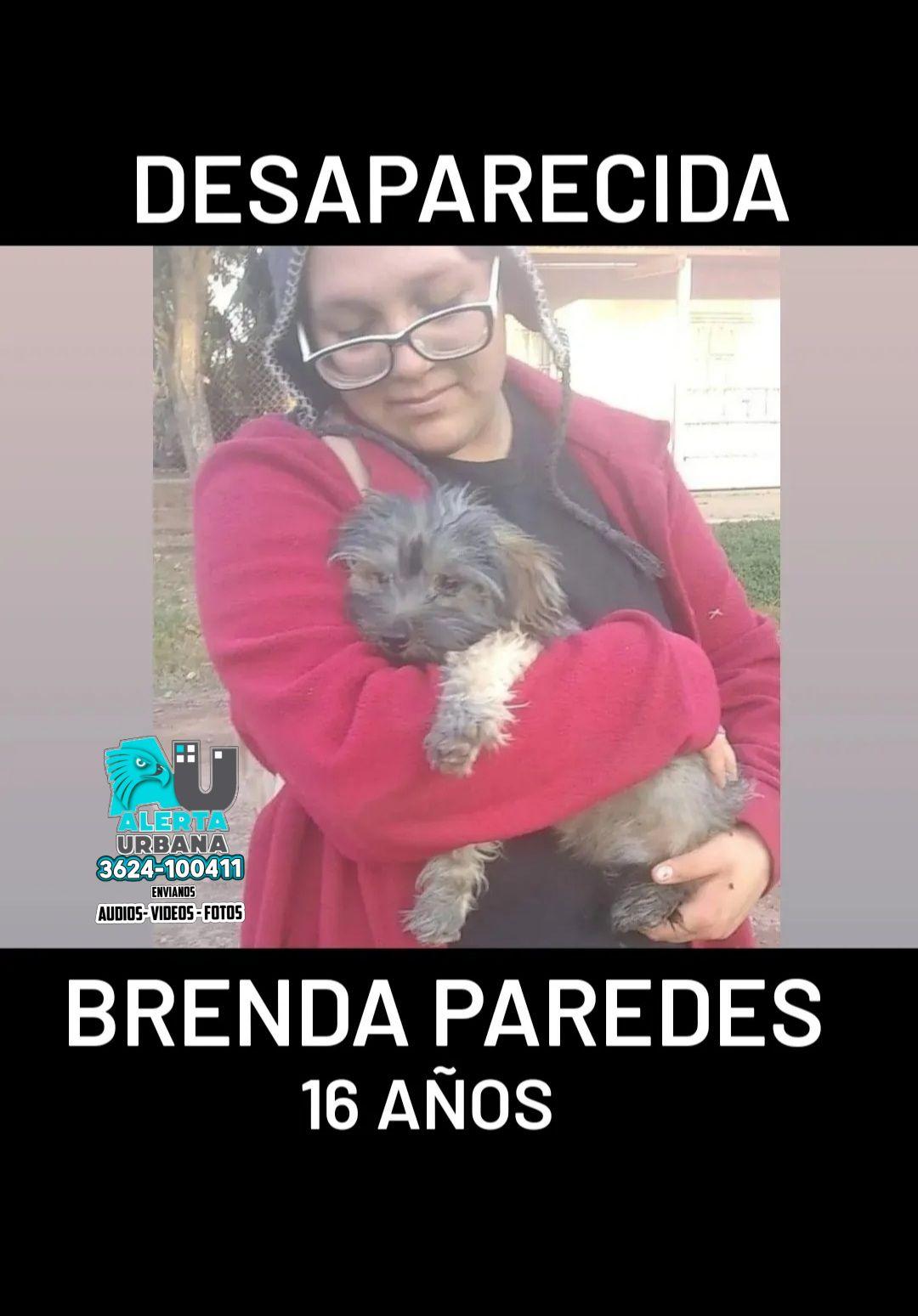 Brenda Paredes de 16 años se encuentra desaparecida desde este jueves