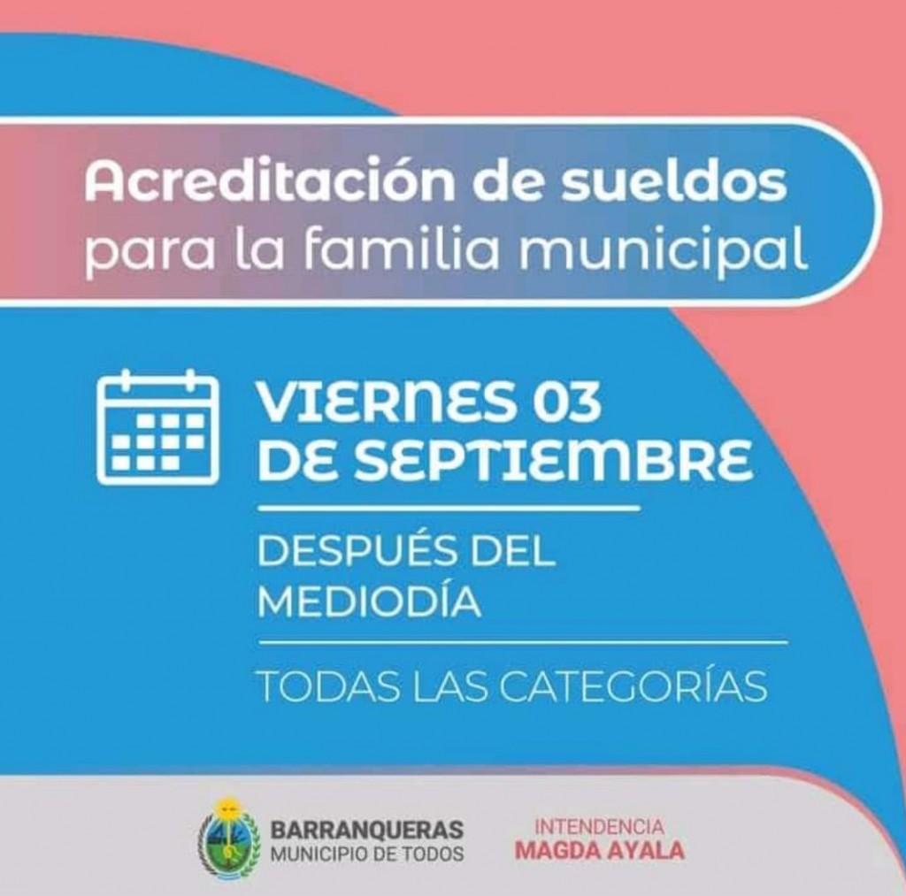 Barranqueras: ya están acreditados los sueldos para los municipales