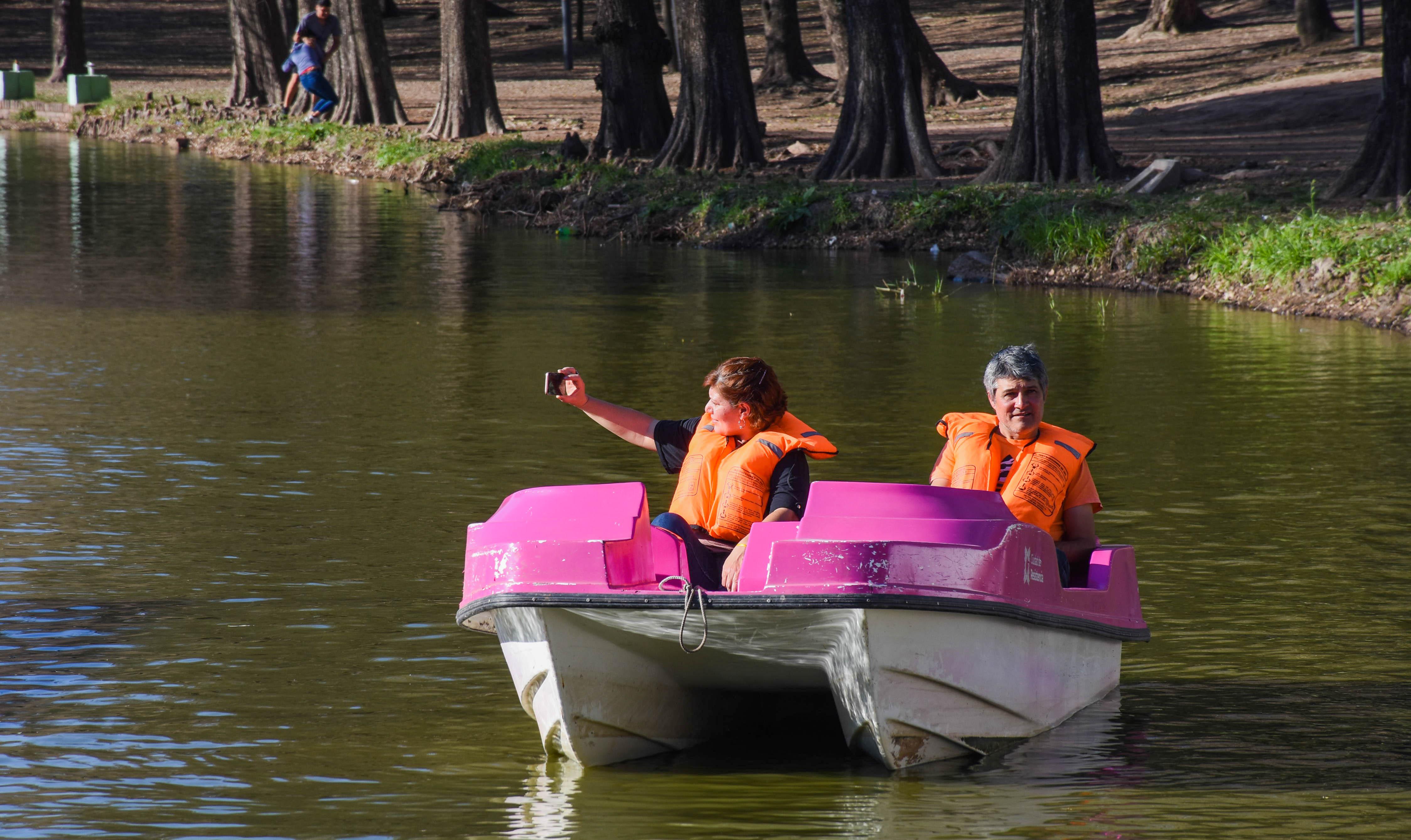 Laguna Argüello: Inauguran el paseo de bicibotes gratuitos