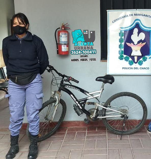 Le robaron la bicicleta a una docente y la policía se la recuperó