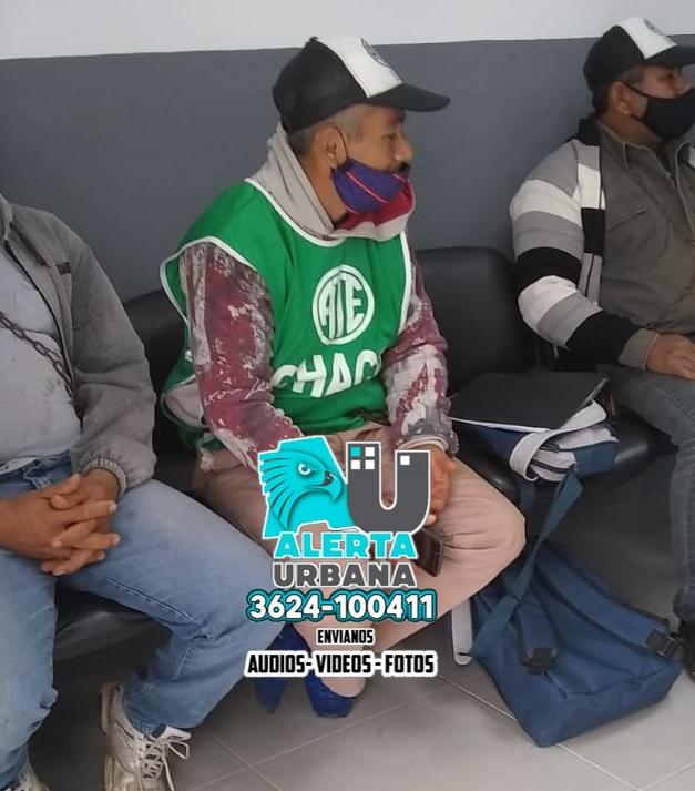 Municipales nucleados en ATE encadenados en Pampa del Indio
