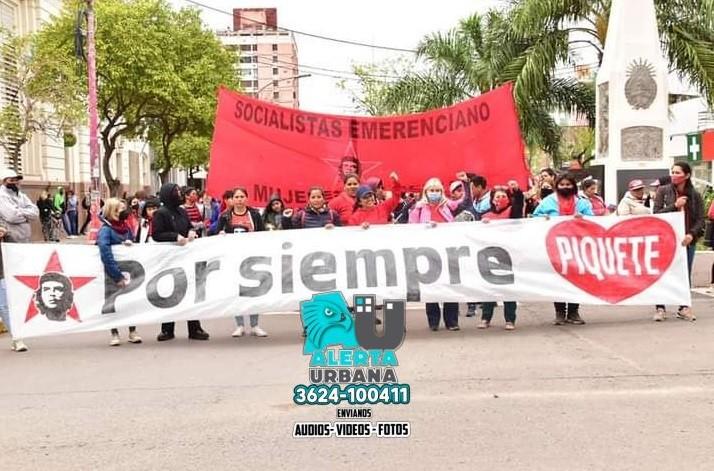 Piqueteros protestan en contra del protocolo anti piquetes