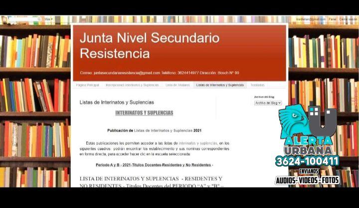 Listas de interinatos y suplencias para Nivel Secundario