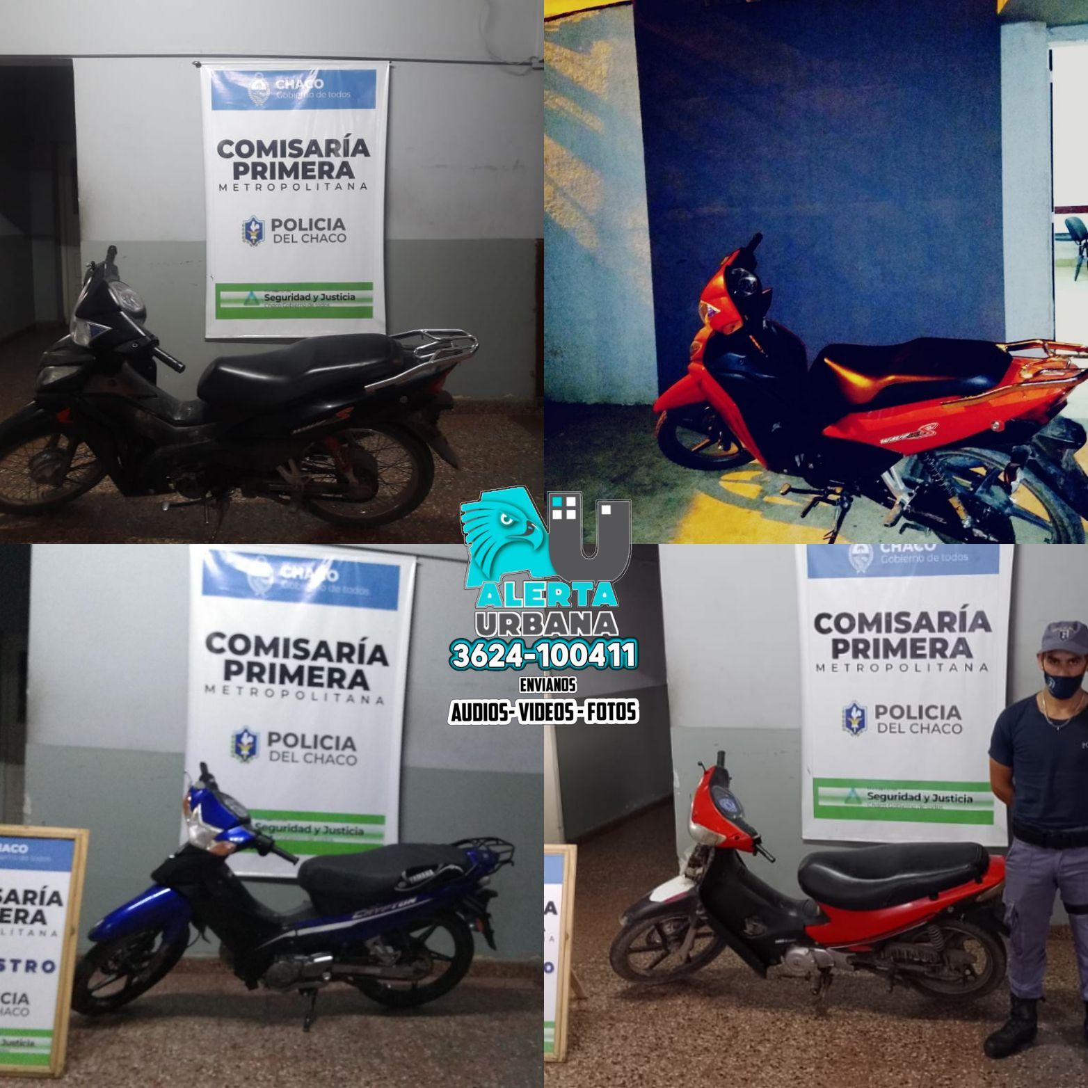 Resistencia: seis motocicletas secuestradas durante el fin de semana