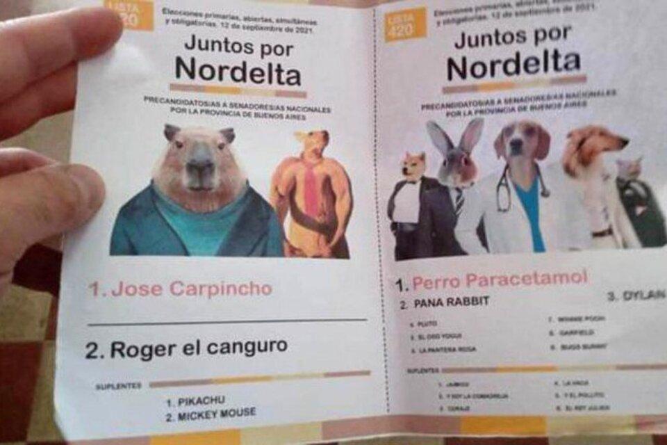 La boleta del carpincho que le ganó a Guillermo Moreno y a Cinthia Fernández