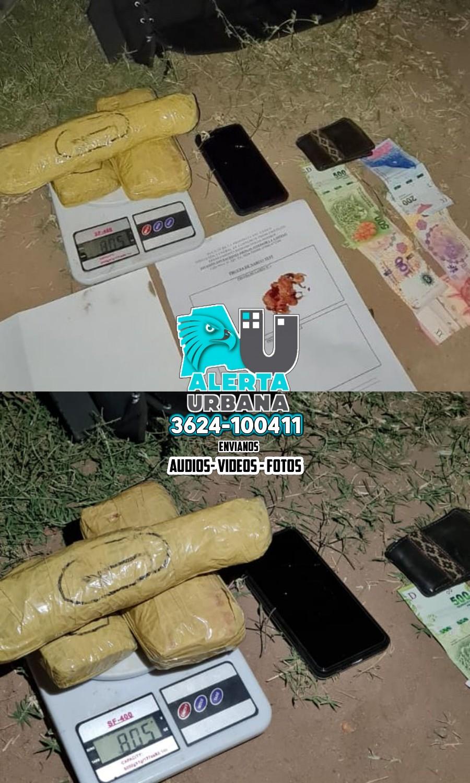 Castelli: Lo atraparon con tres panes de marihuana