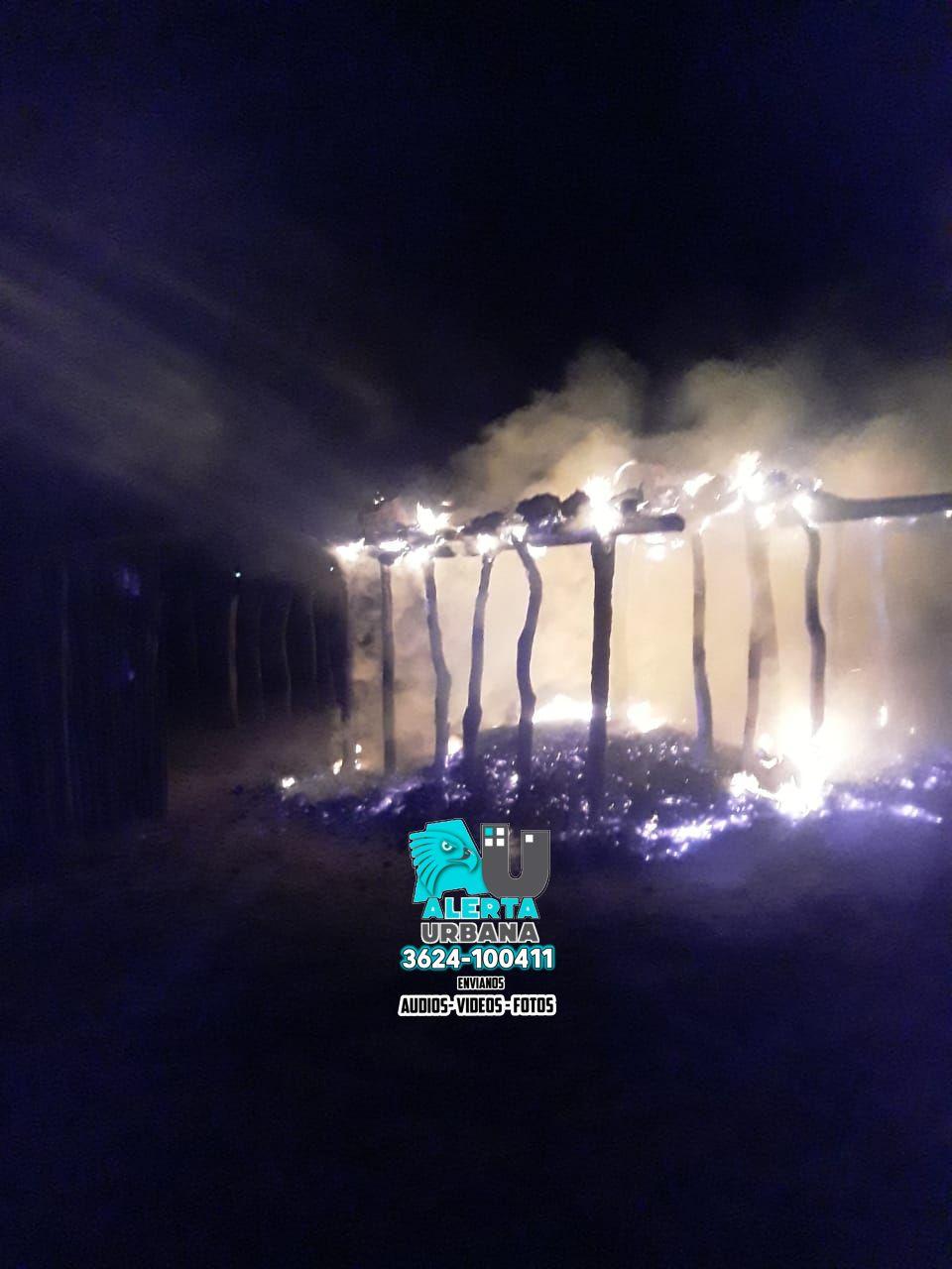 El Sauzalito: el fuego consumió su casa