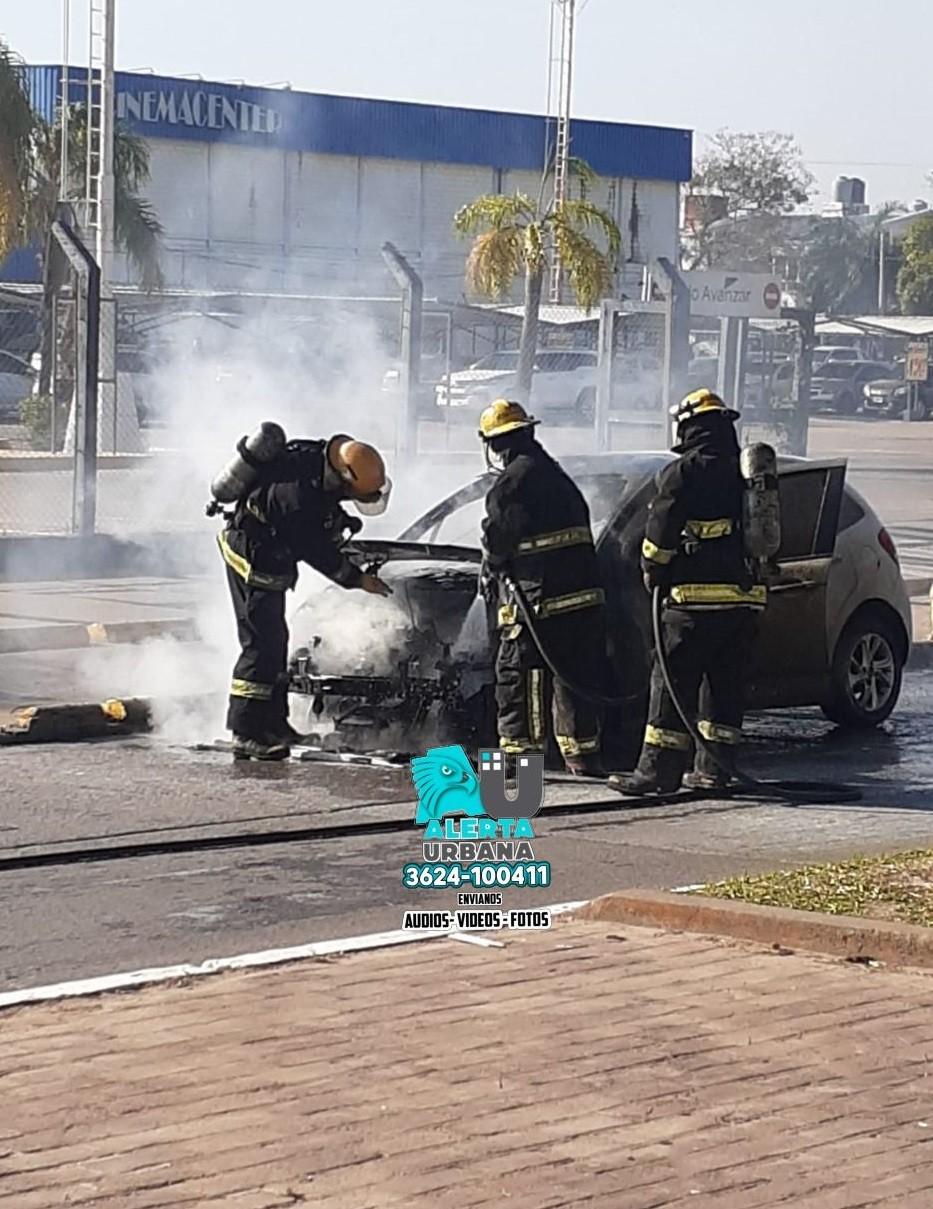 Se incendió un auto en Resistencia