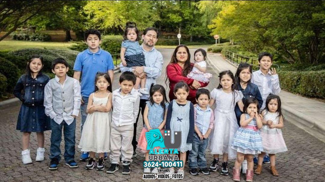 Tienen 16 hijos y todos sus nombres empiezan con la letra C