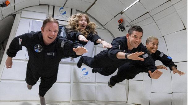 El cohete de SpaceX con la primera tripulación completamente civil está en órbita