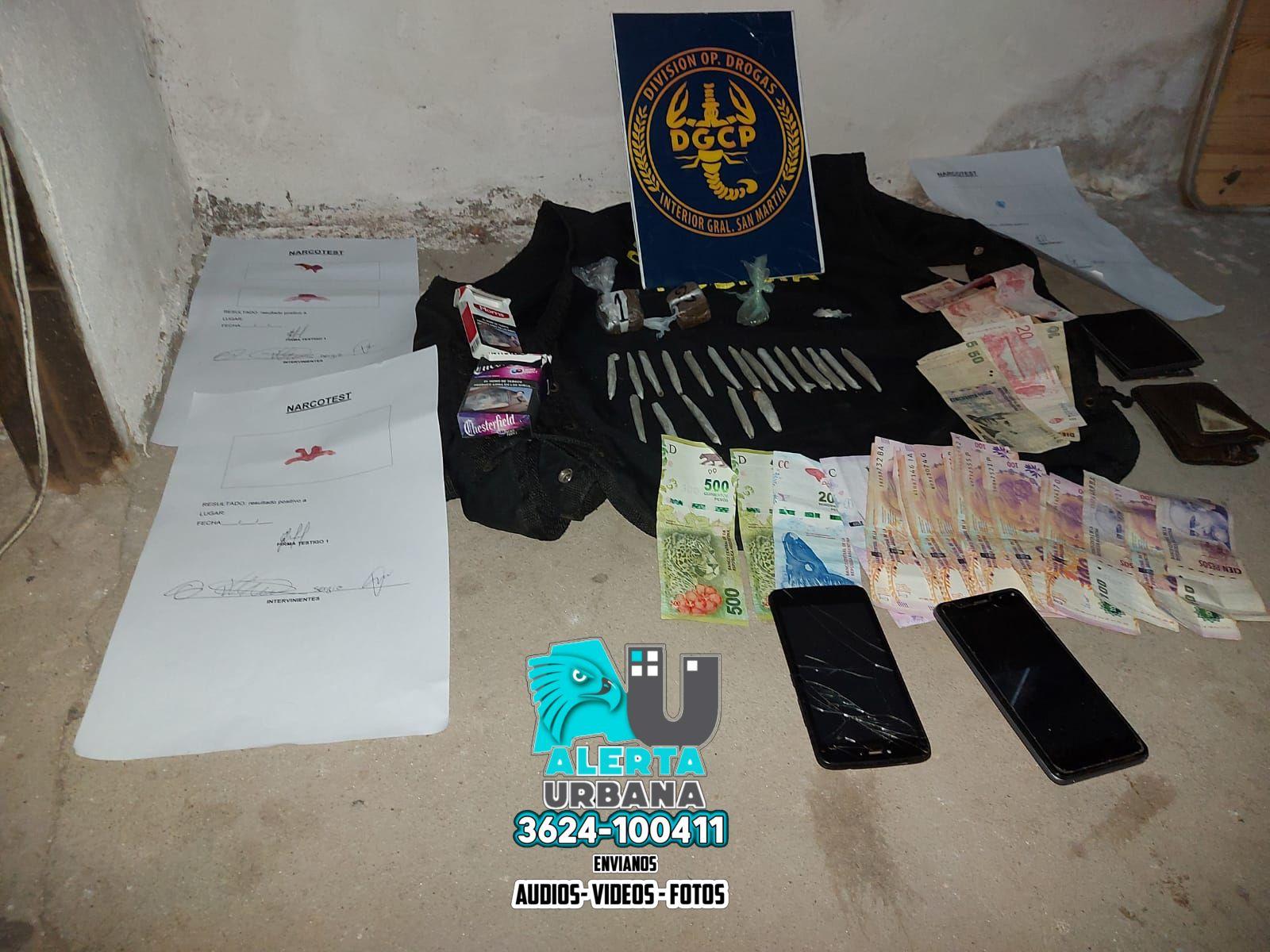 Capitán Solari: allanamiento y secuestro de droga