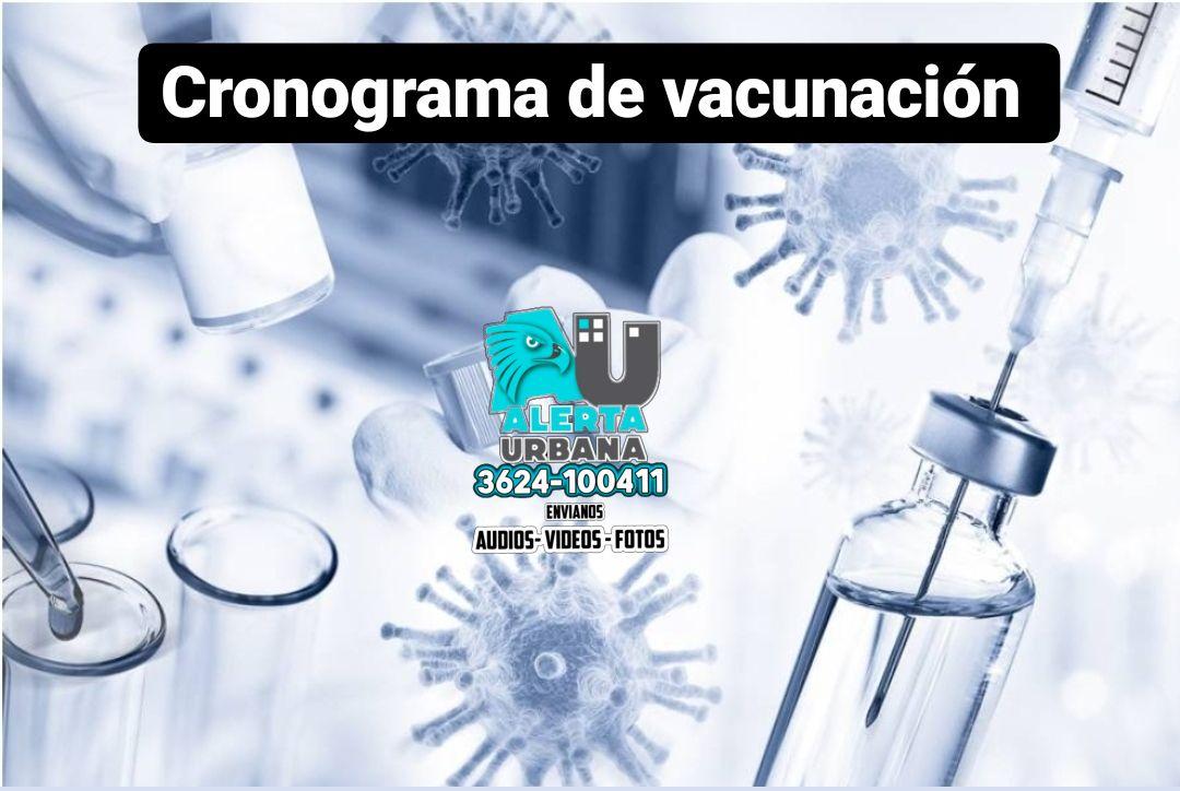 Cronograma provincial de vacunación: Domingo 19 de septiembre