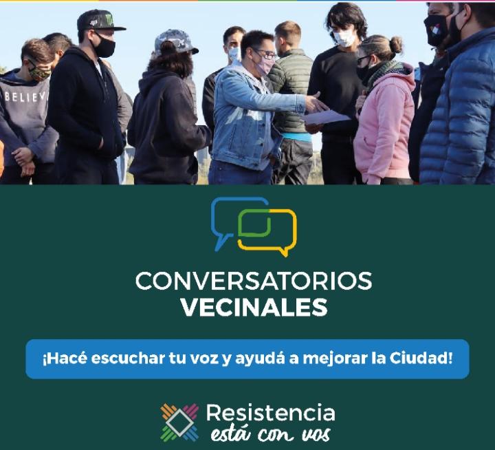Inician los conversatorios vecinales en distintos puntos de Resistencia
