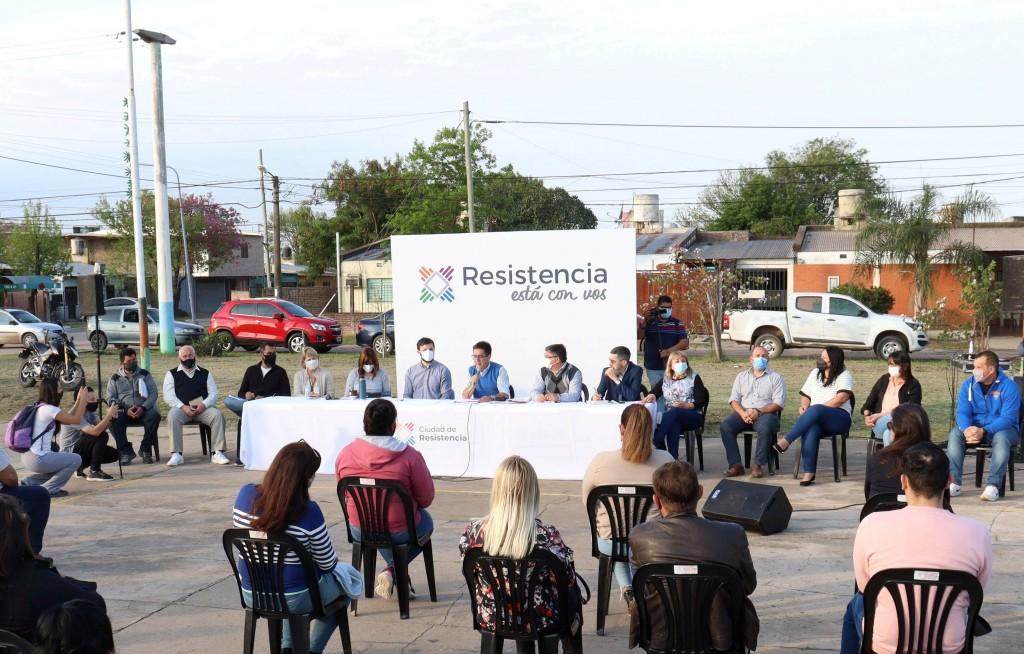 Se inició los conversatorios vecinales con representantes de barrios de la zona oeste de Resistencia