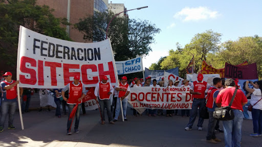Federación SITECH: Movilización  y medida de fuerza para este lunes 27