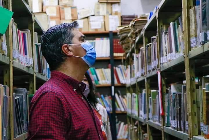 Refacciones en el edificio de la Biblioteca