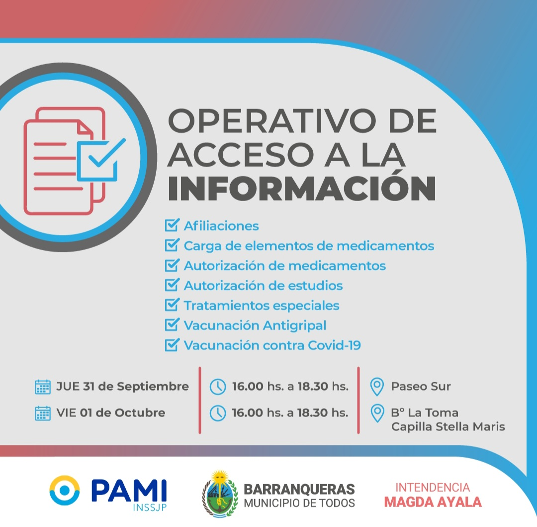 Barranqueras: operativo de acceso a la información, junto a PAMI